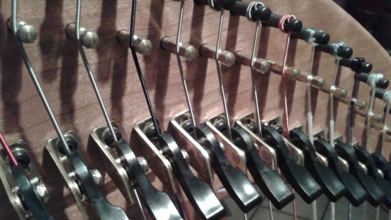 Dusty Strings harp, Da Capo Coaching.